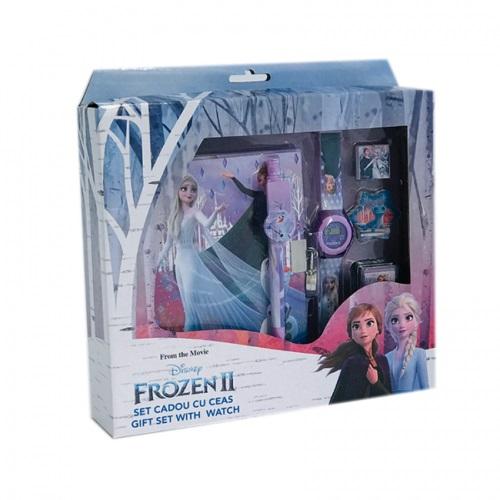 Darčekový set Frozen 2 s hodinkami