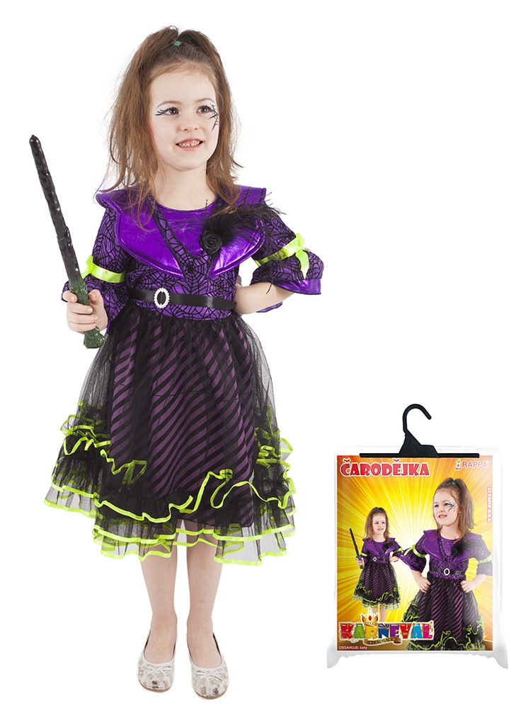 Karnevalový kostým čarodejnica, 8-10r
