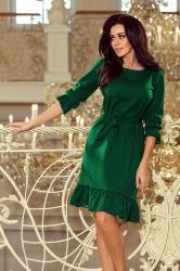 fabbf66f46fb Dámske šaty Maya s volánom zelené