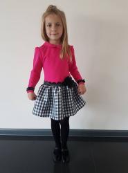 Dievčenské šaty ružové s čiernym kvietkom 08391a77cde