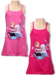 7abe1f4687e0 Dievčenské šaty Frozen ružové a malinové na ramienka