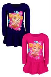 Dievčenské šaty Tlapkova Patrola (Paw Patrol) malinové a tmavomodré ee97a41fd46