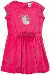 62e67714f712 Dievčenské šaty Minnie velúrové ružové a tmavomodré