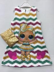 a12462212c Dievčenské šaty L.O.L.Surprise s kabelkou