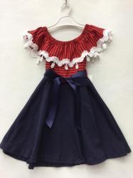 83c47bd615 Dievčenské šaty s čipkou a mašličkou