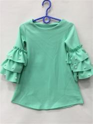 283be8474a Dievčenské šaty s gorálkami mentolové