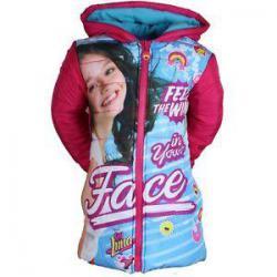Dievčenská zimná bunda Soy Luna malinová a modrá 003388d0a5f
