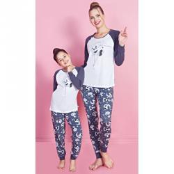 20c64b057e30 Pyžamo dlhé Vienetta Secret Panda na mesiaci