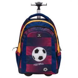 14a0ccfa96 Školská taška Football na kolieskach
