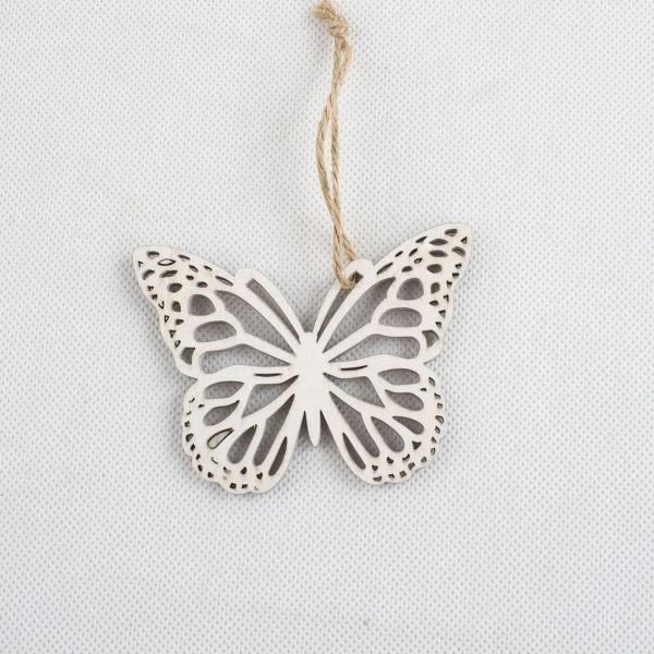 Drevený motýľ na zavesnie
