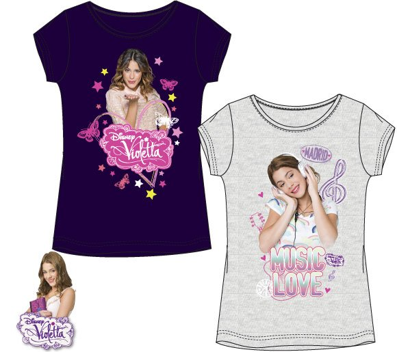 Tričko Violetta šedé a fialové 116, fialové