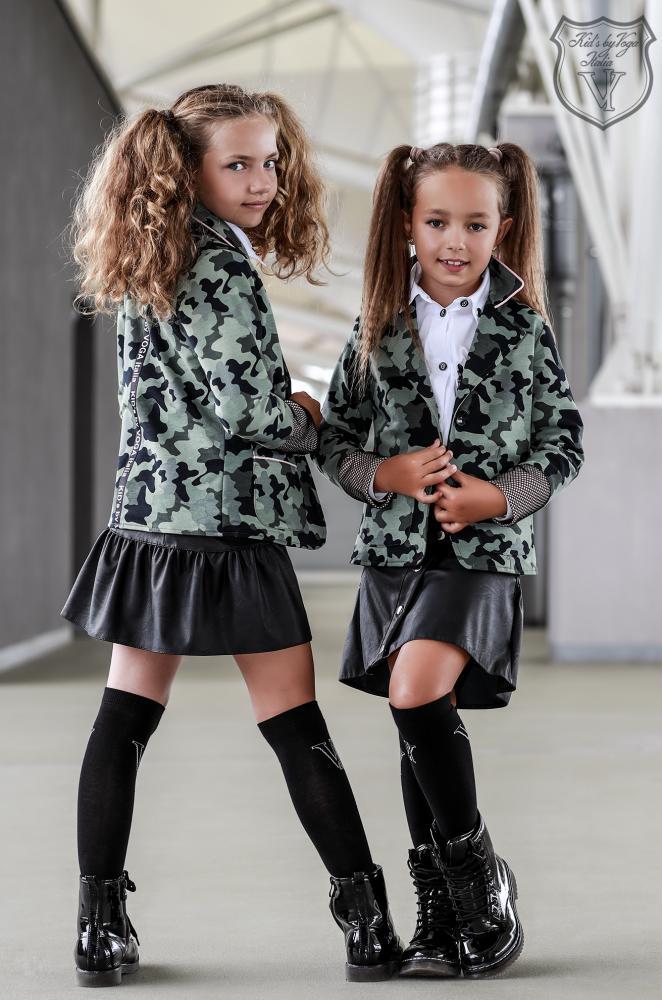 Podkolienky k šatám čierne  Kid's By Voga Italia