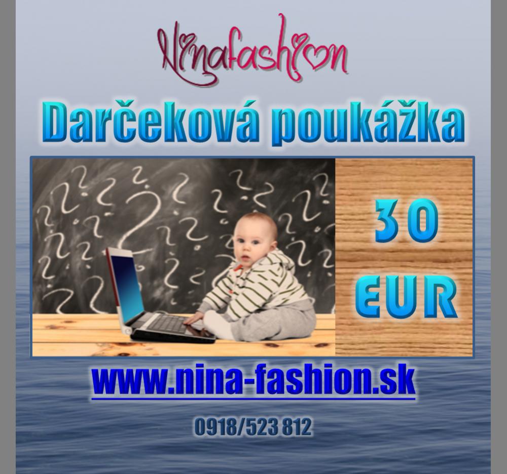 Darčekový poukaz v hodnote 30€