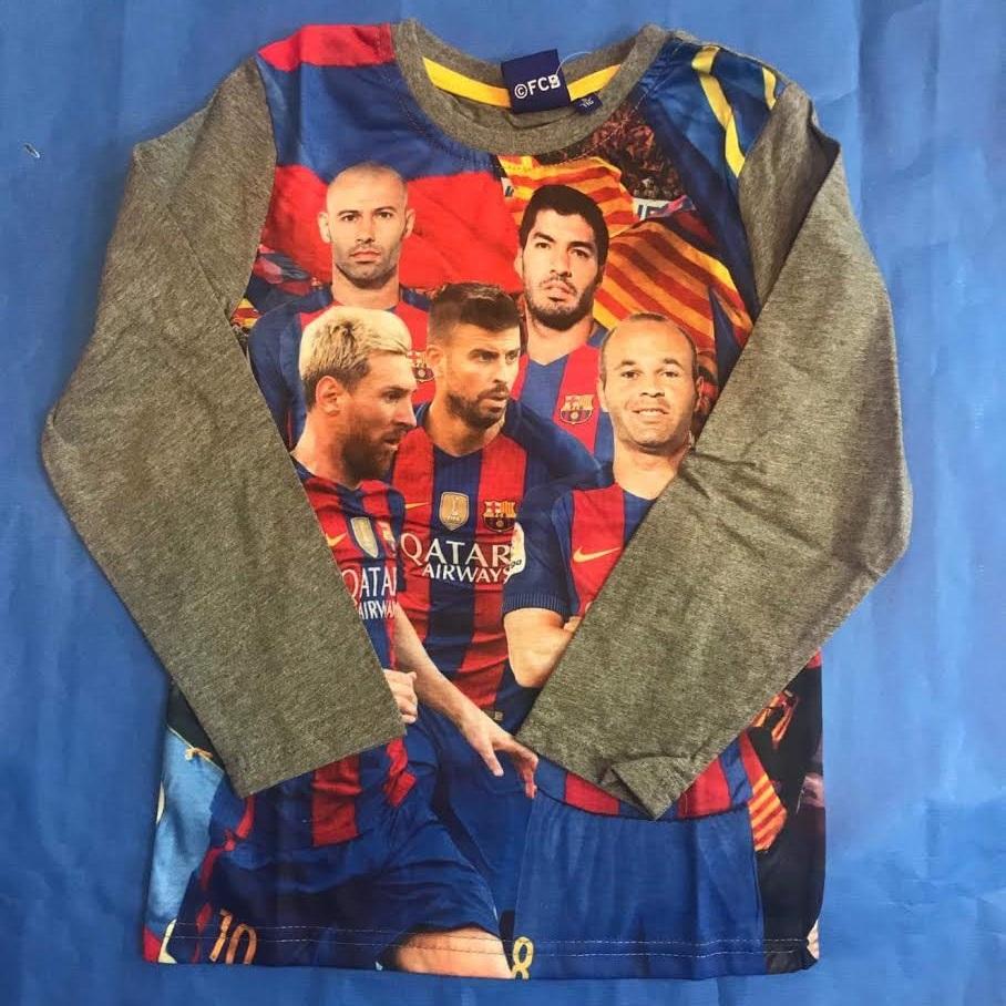 Tričko FC Barcelona 116 šedá