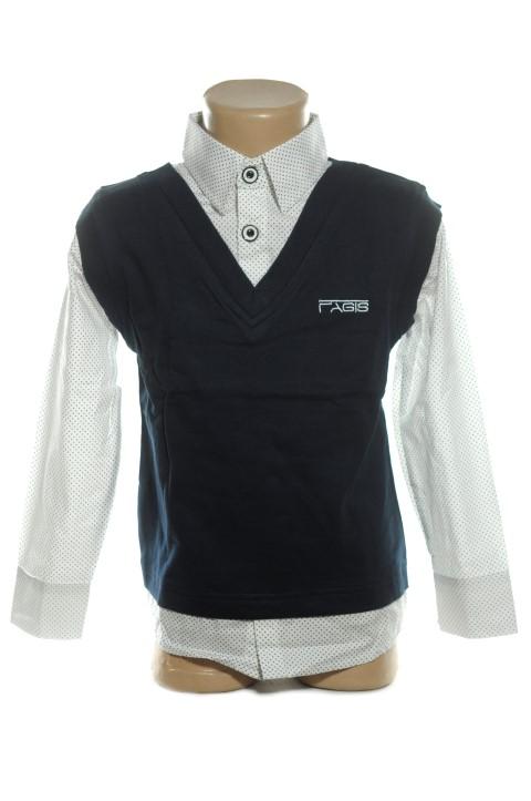 Detská košeľa s vestou 152