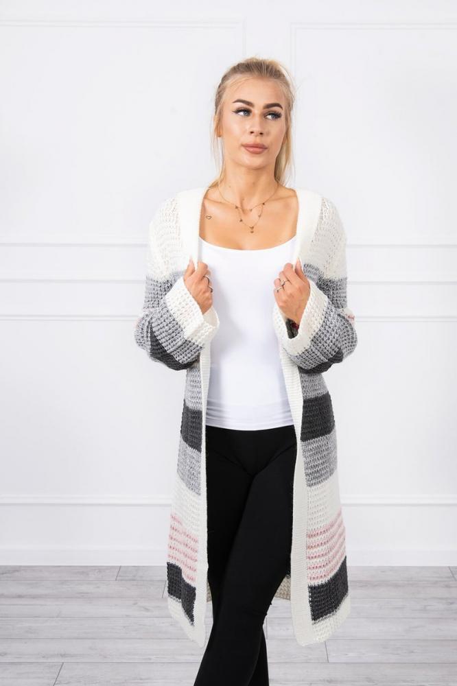 Dámsky predĺžený sveter so širšími rukávmi uni