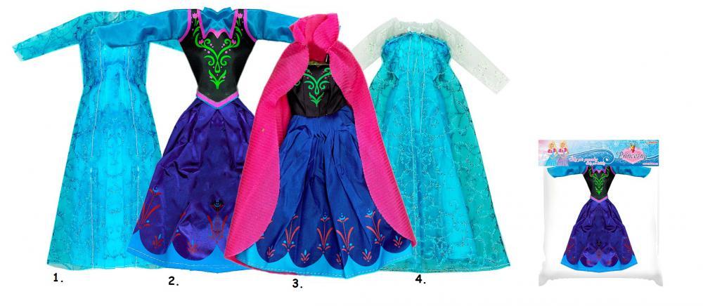 Oblečenie pre bábiku Zimné kráľovstvo
