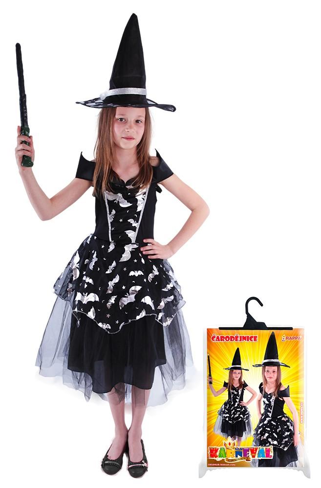 Karnevalový kostým čarodejnica, veľ.S, 4-6 rokov