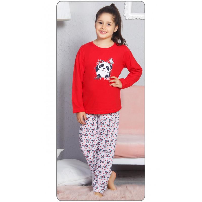 Pyžamo dlhé Vienetta Secret Panda a vtáčik  158/164