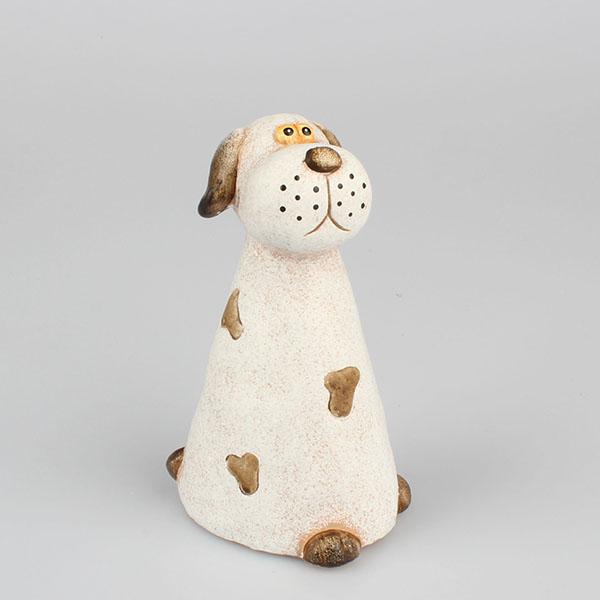 Keramický pes dekorácia