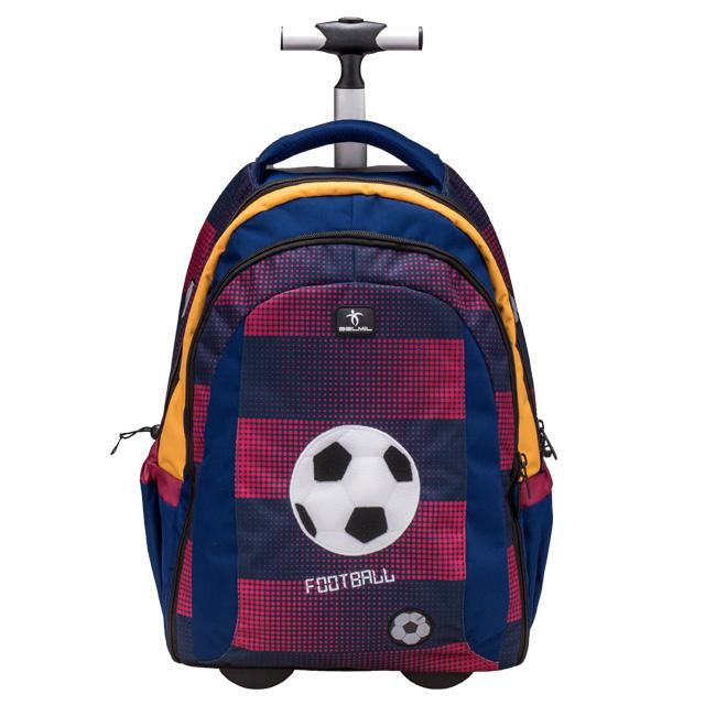 21f6754023 Školská taška Football na kolieskach