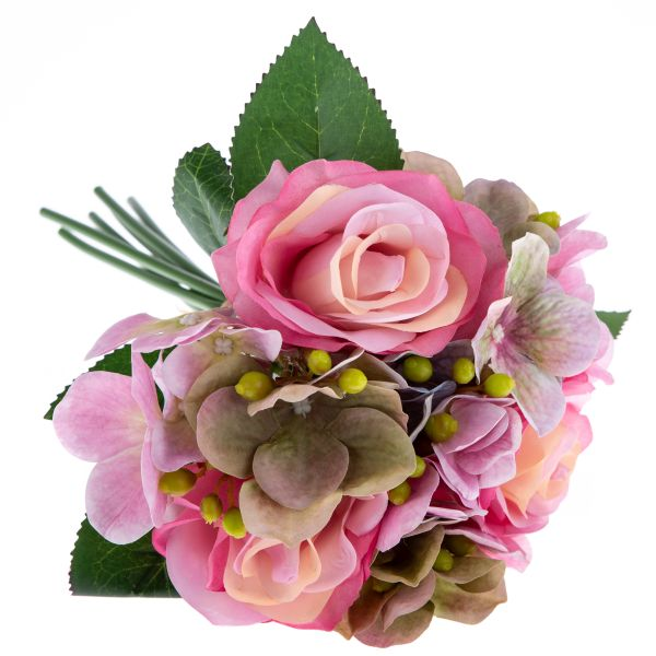 Umelá kytica Ruže s hortenziou