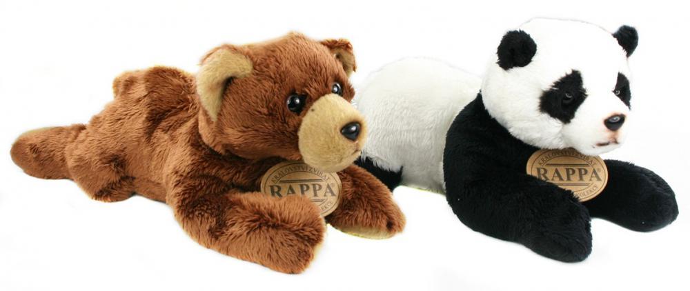 Plyšový medveď/ panda ležiaca, 18cm