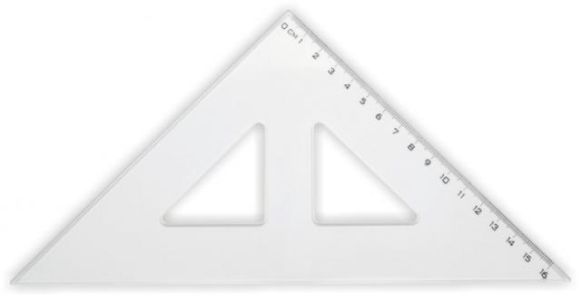 Pravítko trojuholníkové s ryskou