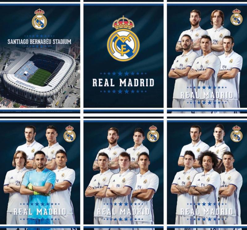 Zošit Real Madrid A4 54 stránový