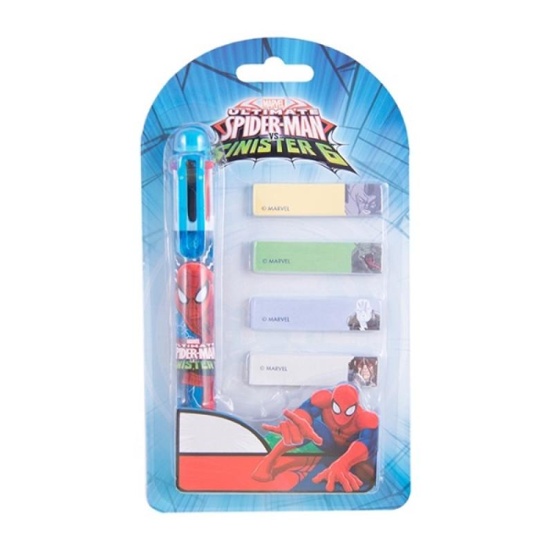 Pero Spiderman 6- farebné + bločky