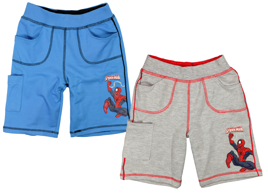 Kraťasy, šortky Spiderman 98 šedá