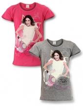 Tričko Violetta ružové a šedé šedé;116