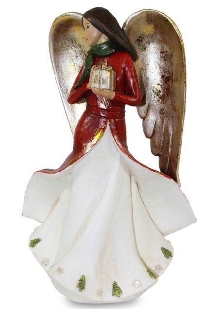 Anjel s darčekom keramický
