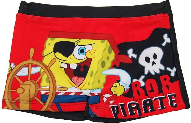 Plavky Sponge Bob modré a červené čierne;104