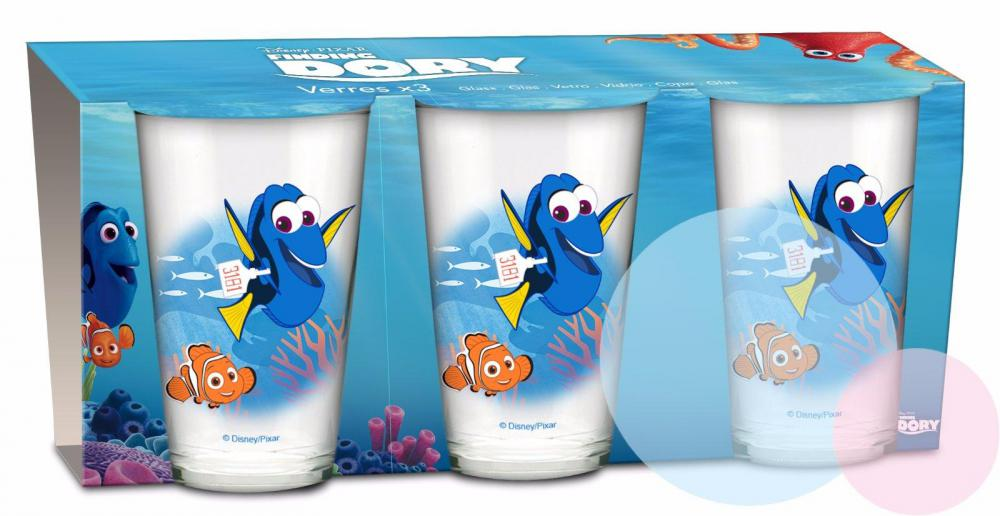 Poháre Nemo 3ks sklo