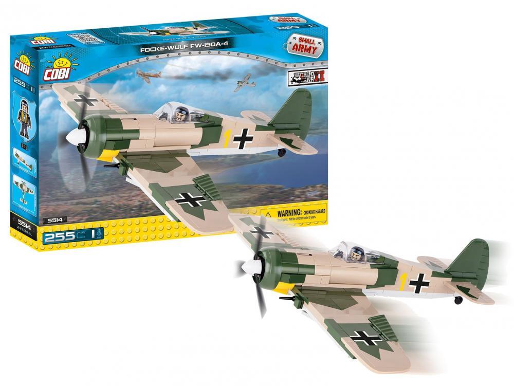 Stavebnica lietadlo II WW Focke-Wulf Fw 190 A4, 255 k, 1 f