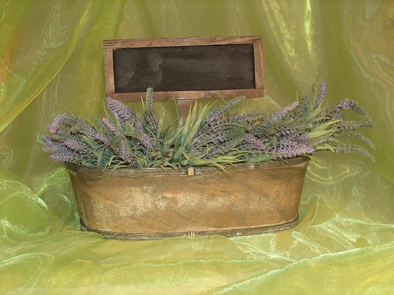 Kvetináč drevo s tabuľkou